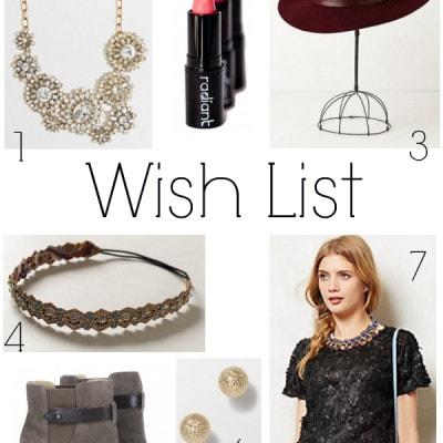 Wish List – October