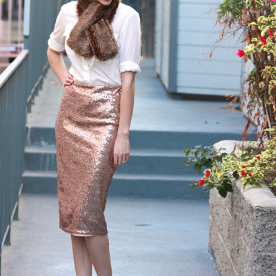 How to Wear: Sequin Midi Skirt