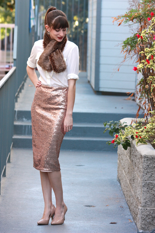 How To Wear Sequin Midi Skirt Jeans And A Teacup