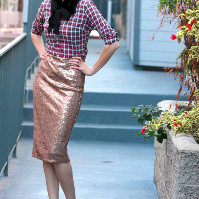 How to Wear a Sequin Skirt: Mixed Up