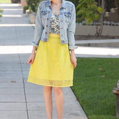 Eyelet Spring Skirt
