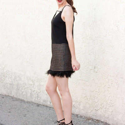 Flashback Fashion Fridays Link Up #7 + Tweed and Feather Dress