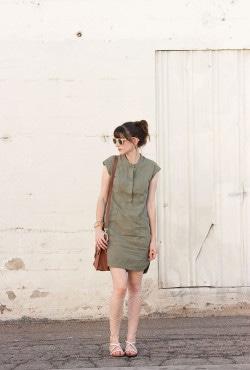 14a8abefa50 Flashback Fashion Fridays Link Up  11 + Green Cargo Dress. September 4