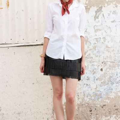 How to Style A Fringe Mini Skirt part 3