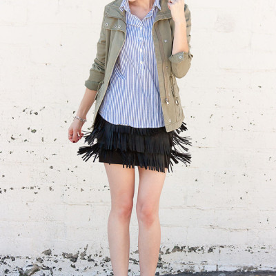 How to Style Series: Fringe Mini Skirt