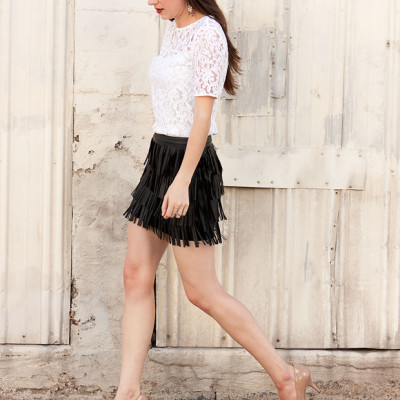 How to Style a Fringe Mini Skirt part 2