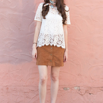 How to Style: Suede Skirt pt. 2
