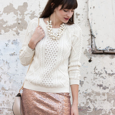 Flashback Fashion Friday #23 + 4 Ways to Wear a Sequin Skirt