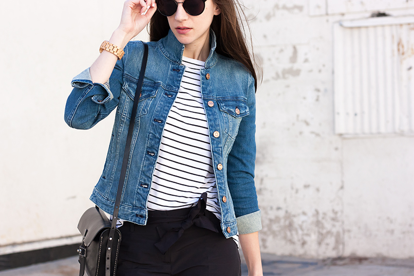 Denim Jacket Cropped Pants Jeans And A Teacup