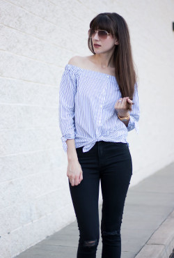 Tied off the shoulder top, Banana Republic Top