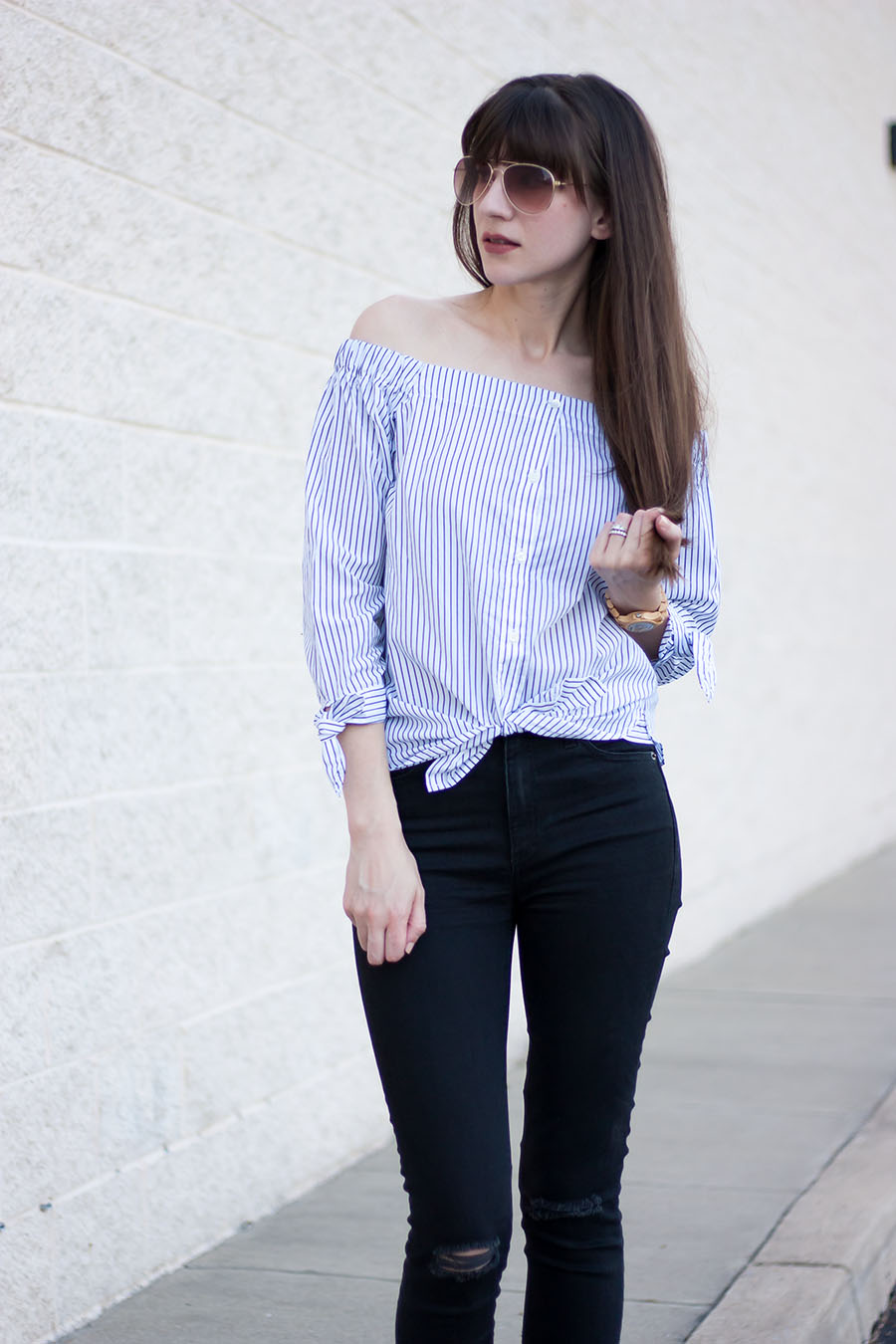 4d6104567a86e Tied Front Shirt - Jeans and a Teacup