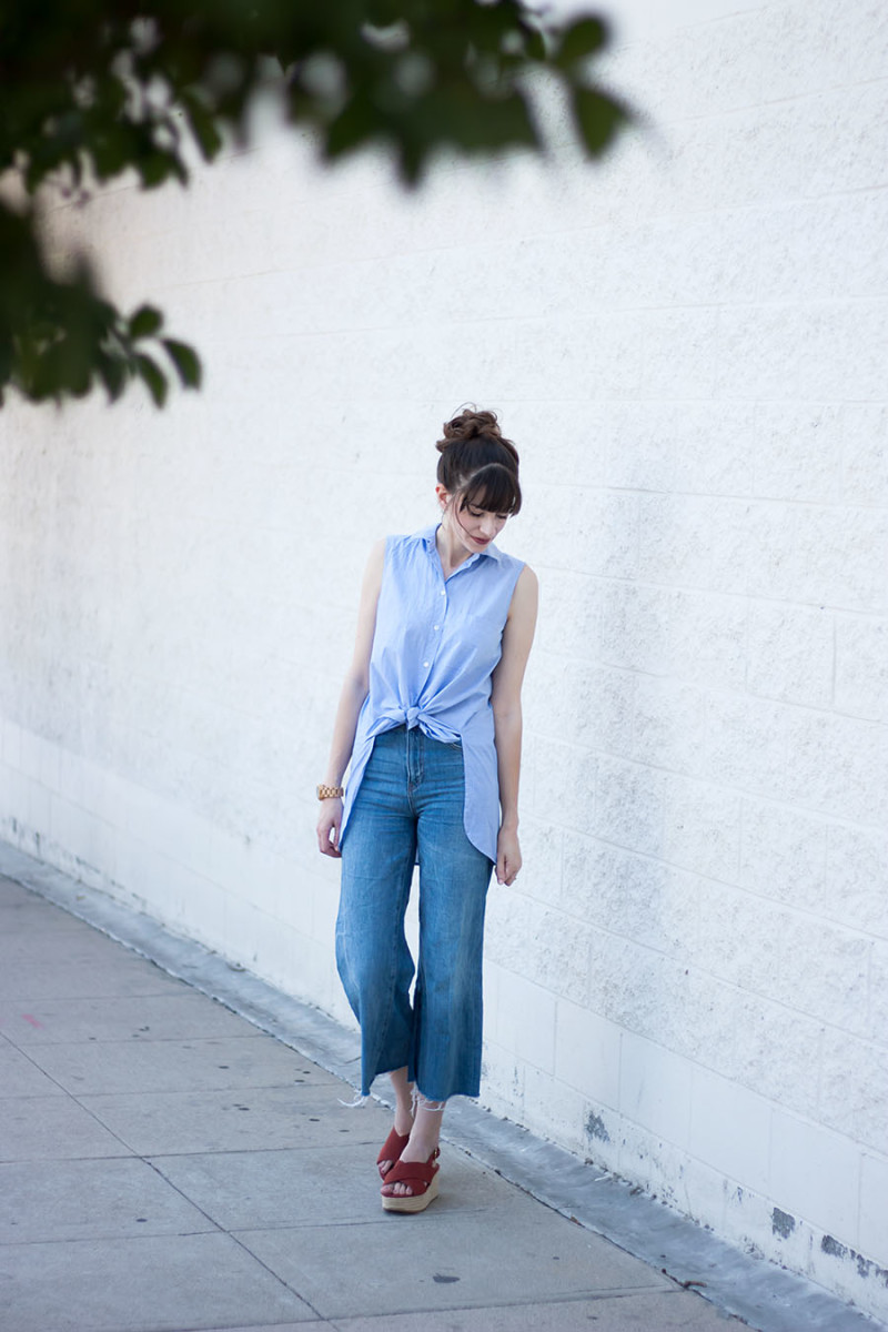Los Angeles Style Blogger, Denim Culottes