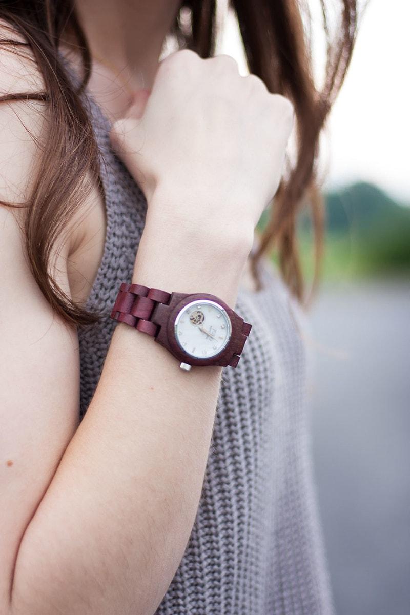 Wood Watch, Jord Cora Purpleheart Wristwatch