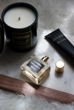 Atelier Lumira Fragrances on Marble Board