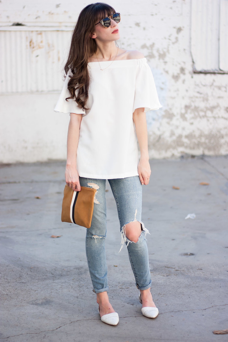 Los Angeles Style Blogger with Clare V. Clutch