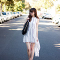 Los Angeles Street Style, High Low Dress, Everlane