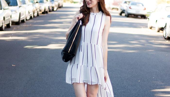 Hobo Bag + High Low Dress