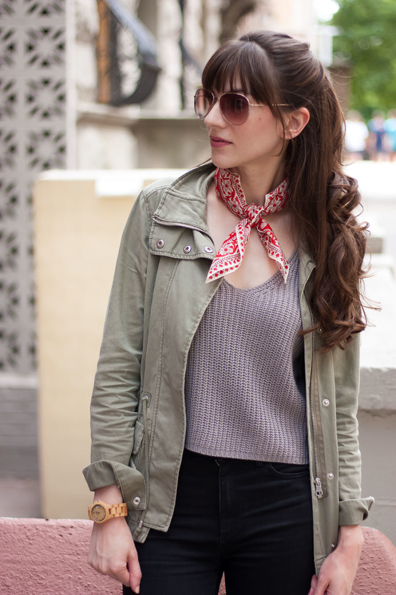 H&M Cargo Jacket, Madewell Scarf
