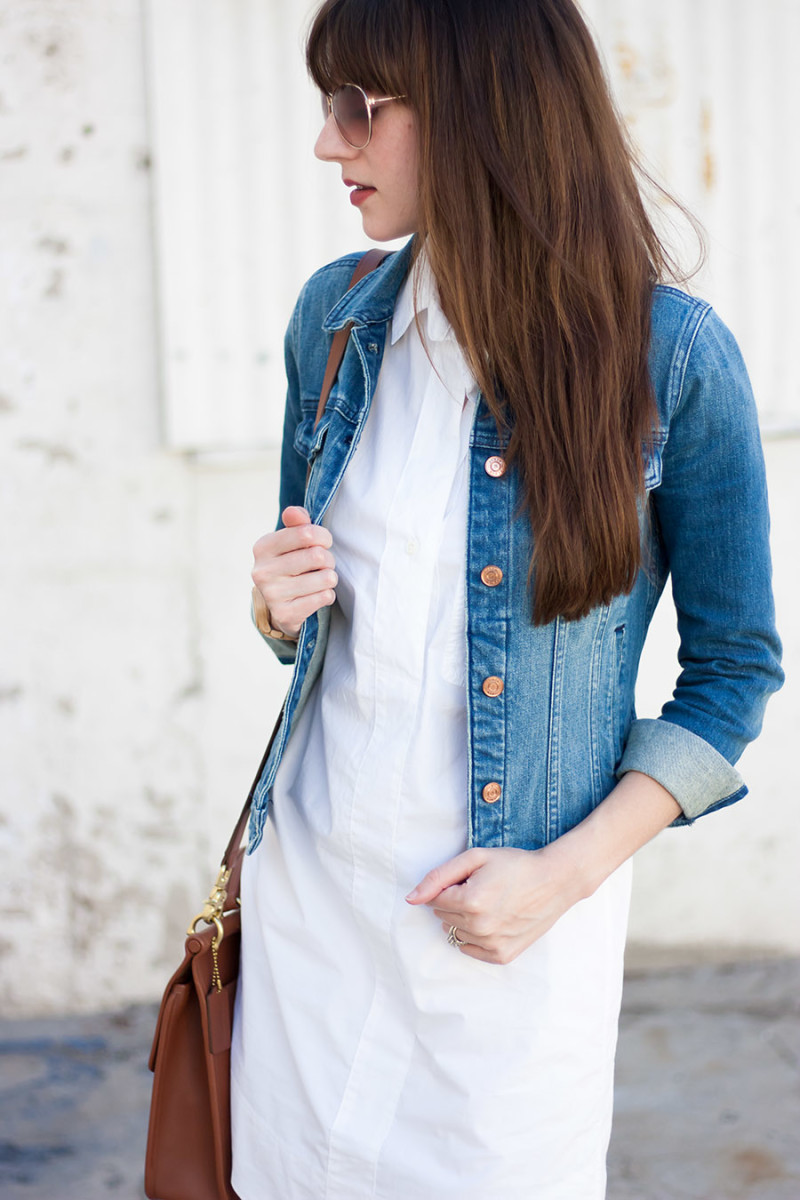 J.Crew Denim Jacket, Los Angeles Style Blogger