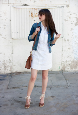 J.Crew Shirtdress with Denim Jacket