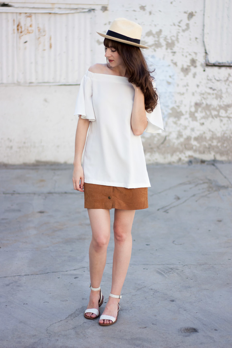 Modern Citizen Off the shoulder top, Los Angeles Style Blogger