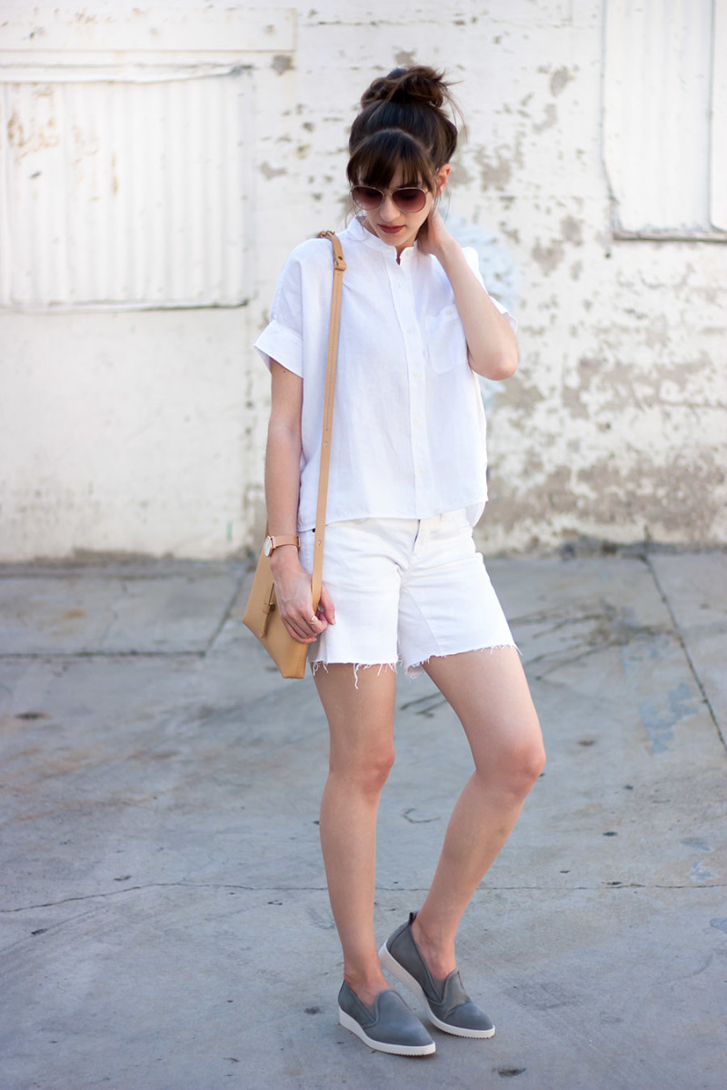 All White Outfit, Everlane Outfit, Minimalist Fashion Blogger