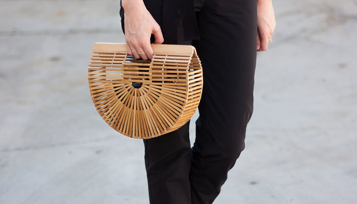Lace Top + Bamboo Clutch