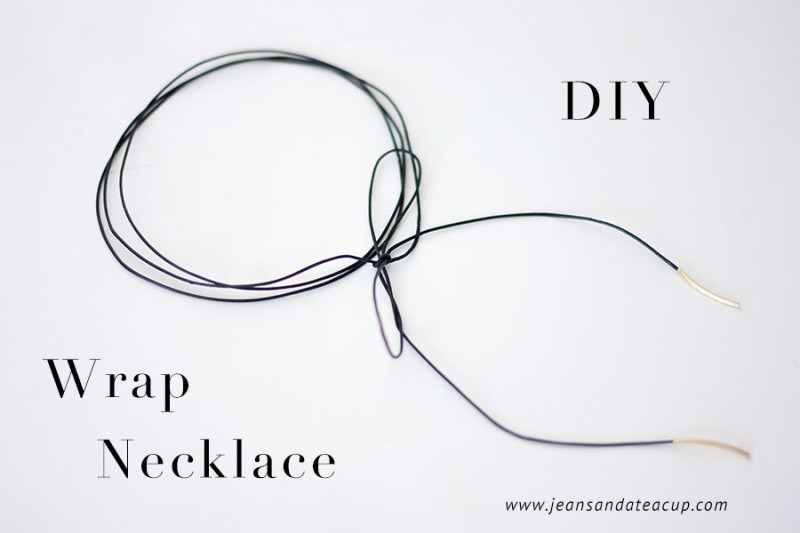 DIY leather choker lariat necklace