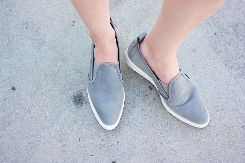 Everlane Street Shoe, Grey Suede Sneakers