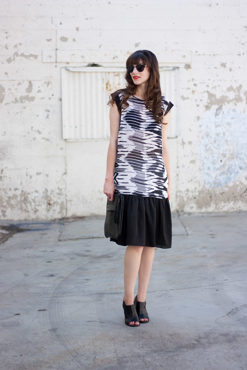 Kami Couture Black and White Dress