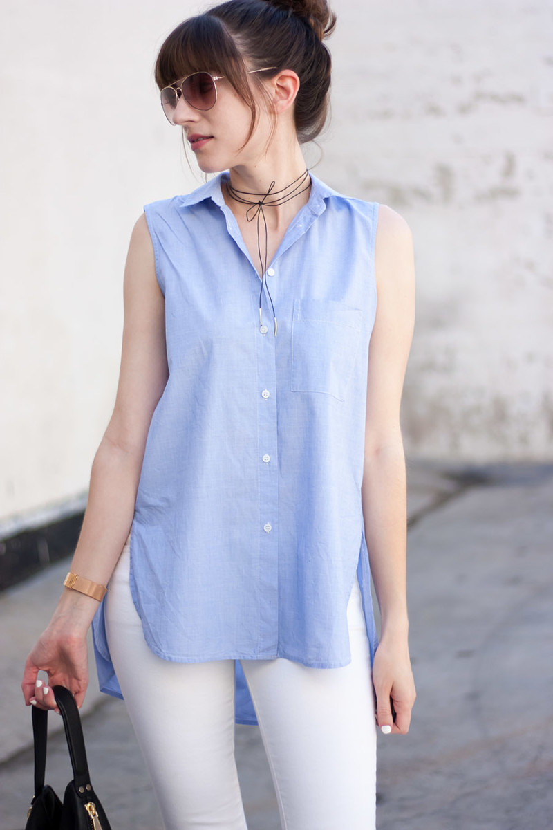 Leather Wrap Necklace, Los Angeles Style Blogger