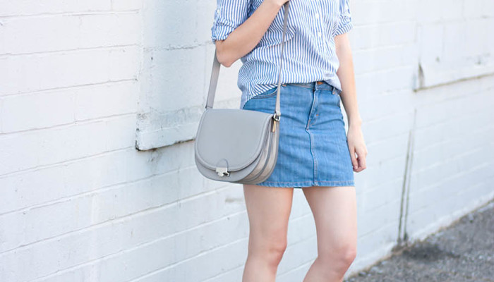 Grey Saddle Bag + Link Up