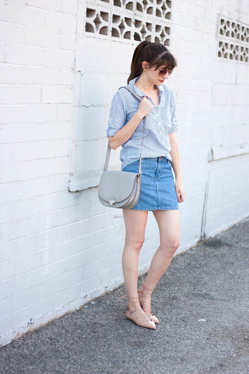 Loeffler Randal Saddle Bag, Style Blogger, Grey Saddle Bag