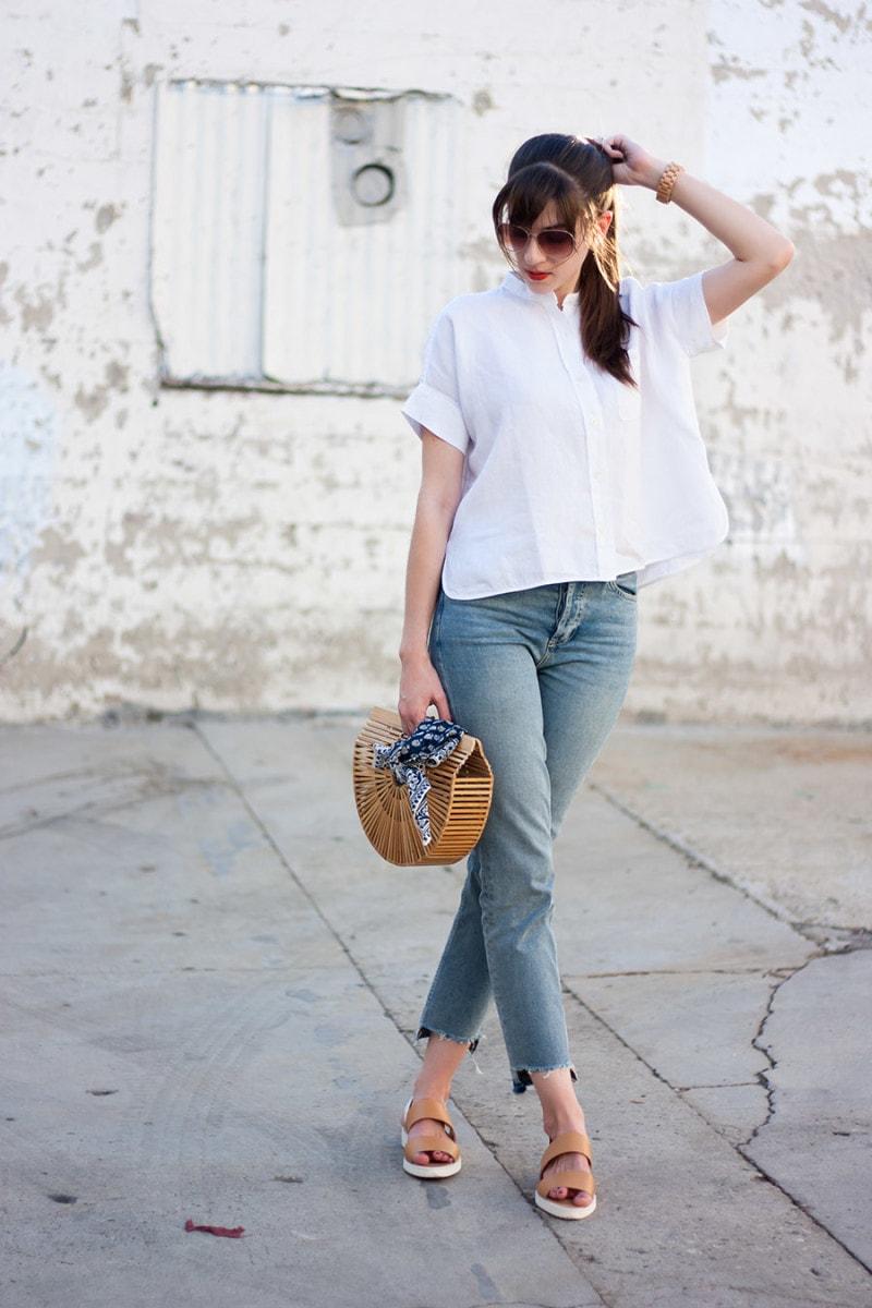 Everlane Linen Shirt, Los Angeles Style Blogger, Minimalist Style Blogger