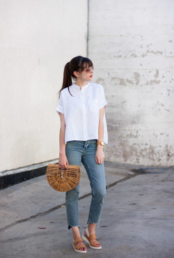 Topshop Stepped Hem Jeans, Minimalist Fashion Blog