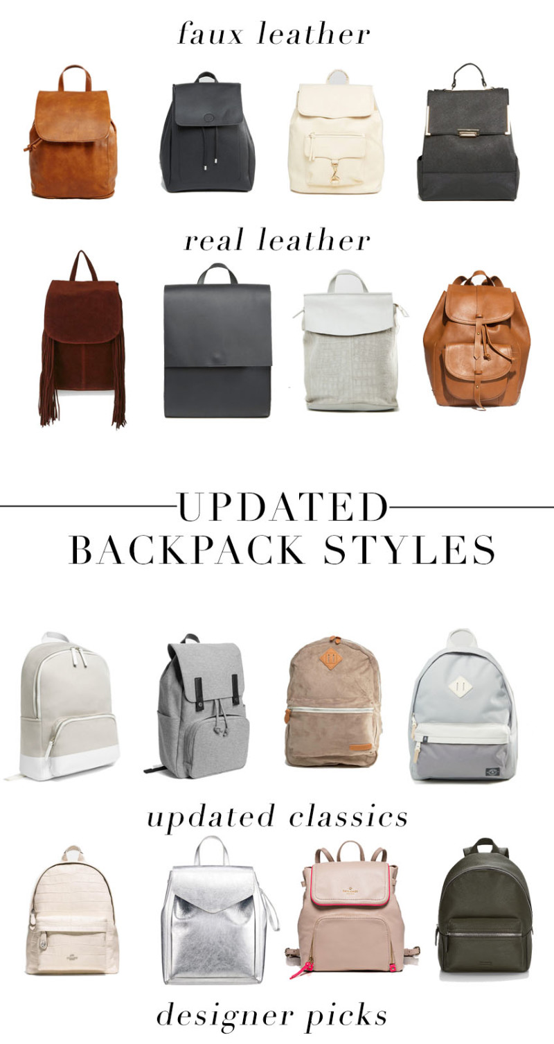 Updated Backpack Styles