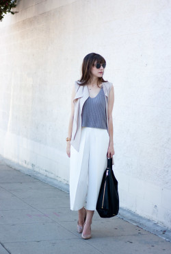 White Culottes, Los Angeles Style Blogger