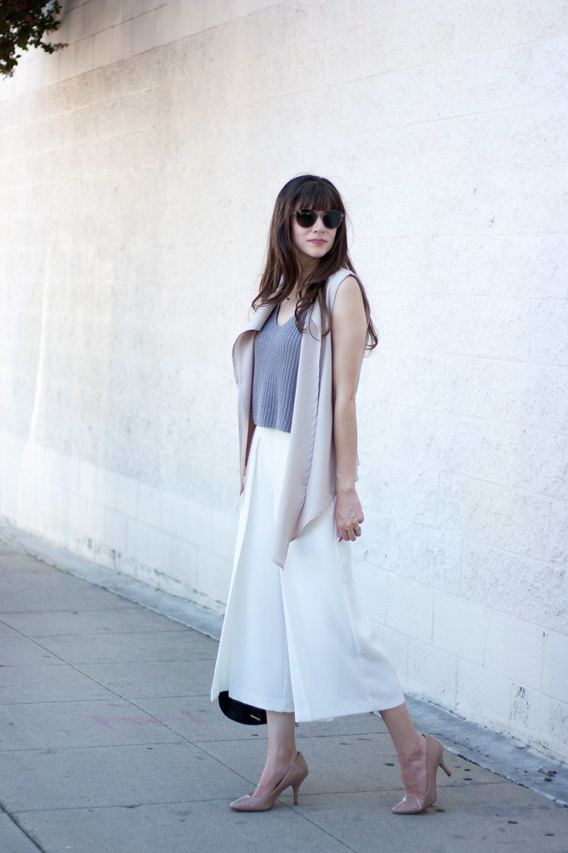 White Culottes Outfit, Los Angeles Fashion Blogger