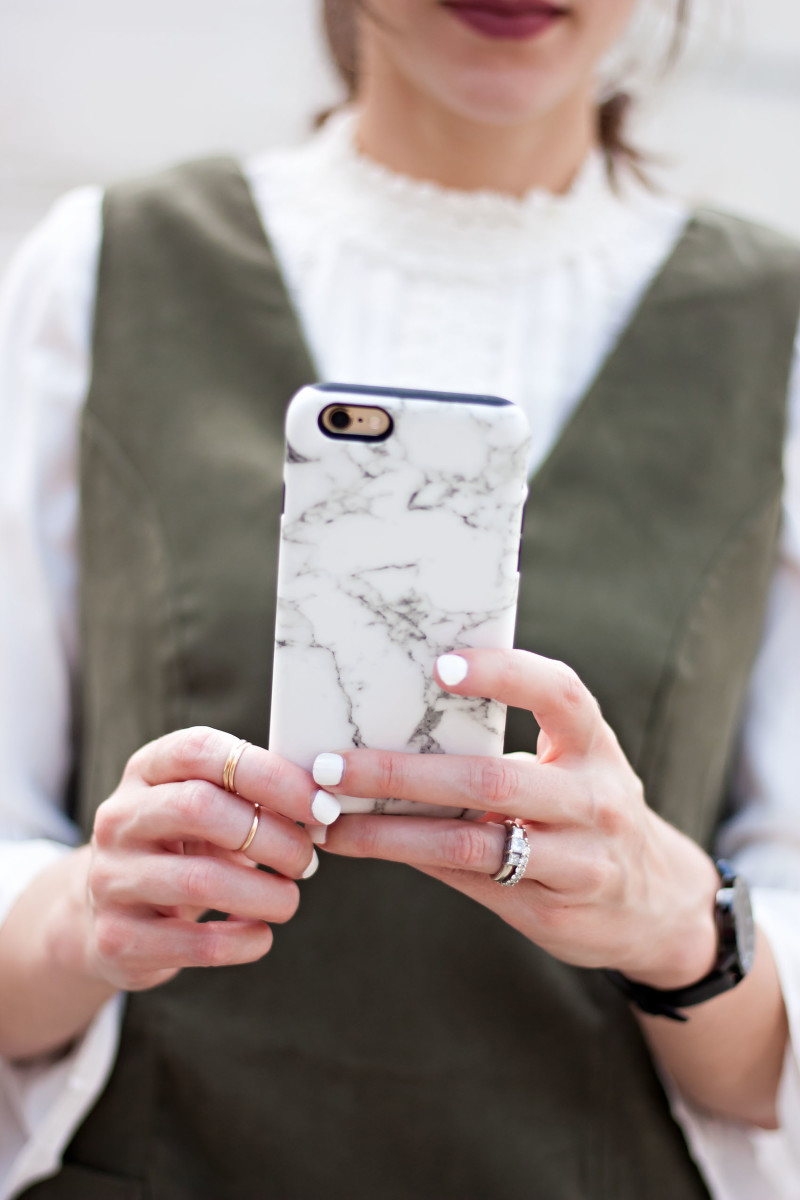 Jeans and a Teacup using a CaseApp marble iphone cover