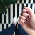 maroon nail polish manicure