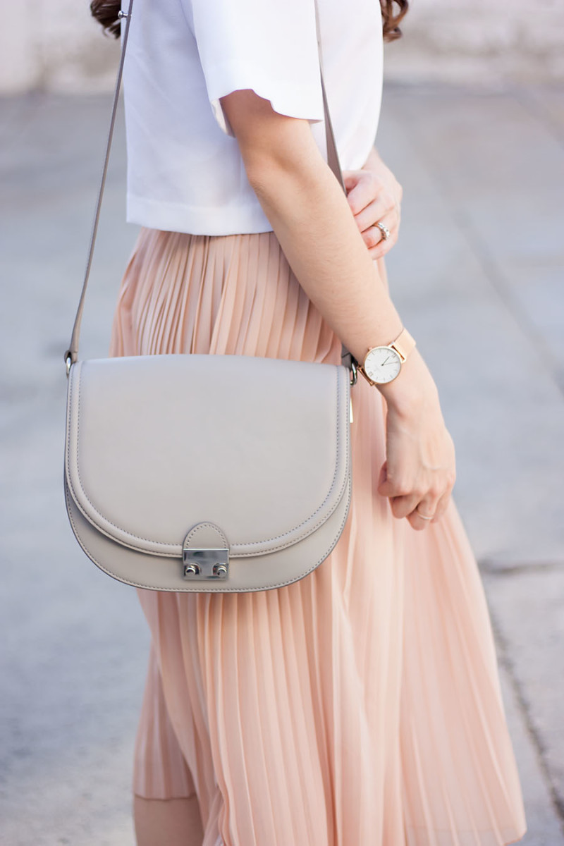 Loeffler Randall saddle bag and Kapten and Son watch