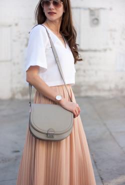 Los Angeles fashion blogger with Loeffler Randall Saddle Bag
