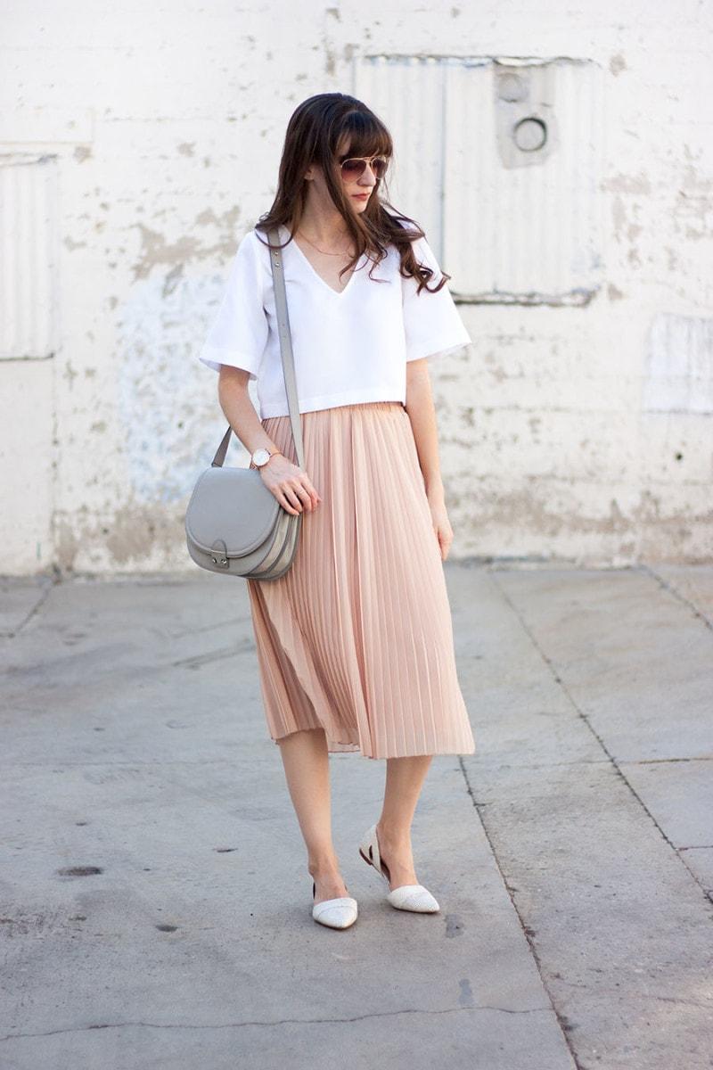Vetta Capsule Top, Blush Skirt