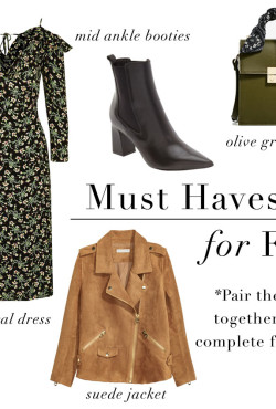 Items you need in your closet for fall