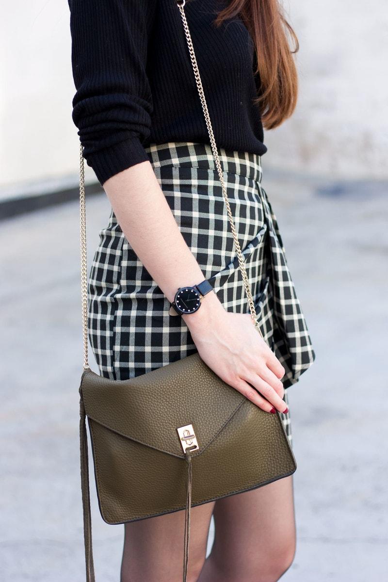 Style Blogger wearing a Rebecca Minkoff Darren Crossbody Bag and Christian Paul Watch