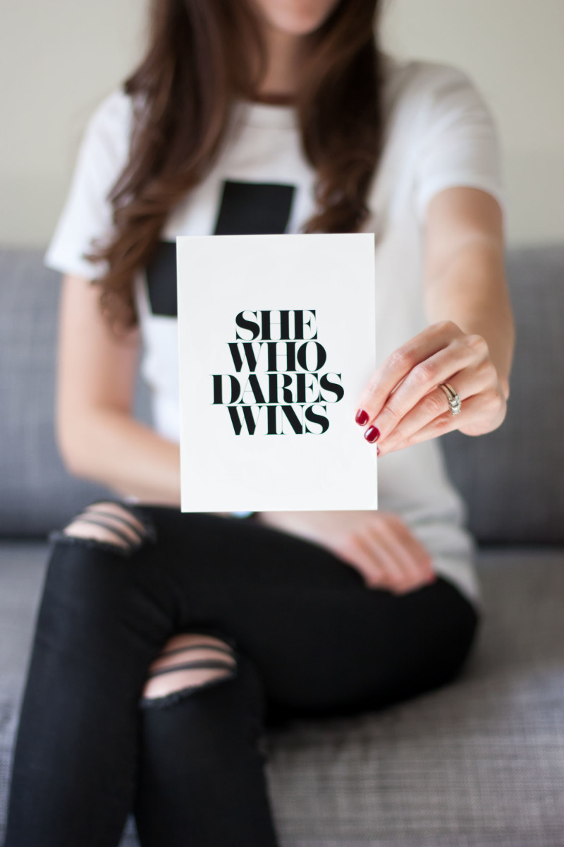 She Who Dares Wins Print from Allkiind