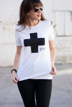 Think Positive Thoughts Tee Shirt that benefits charity