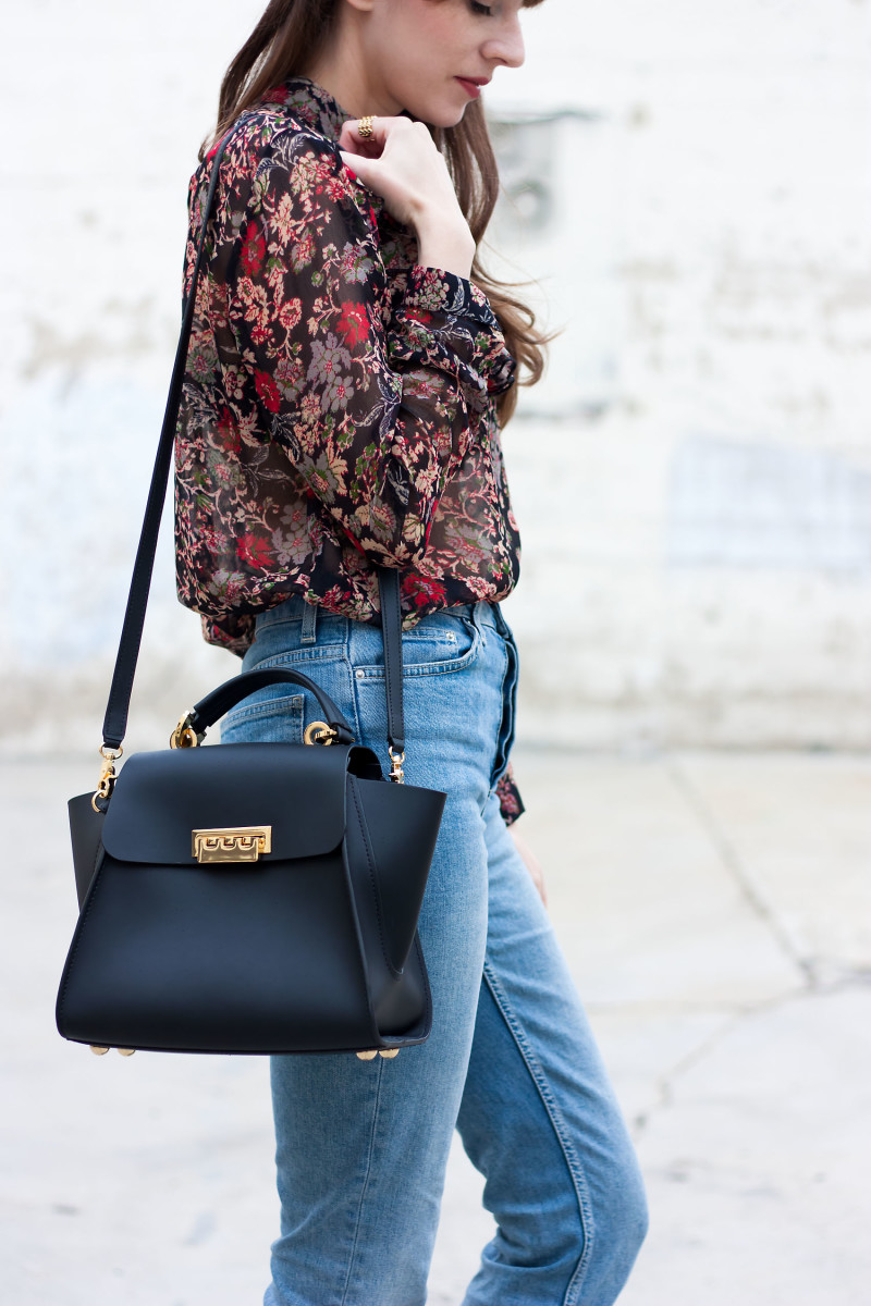 Los Angeles Style Blogger wearing Zac Posen Eartha Iconic Convertible Backpack