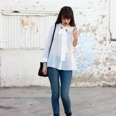 Jeans and a Teacup wearing Genuine People Blouse via the Luv.It app.