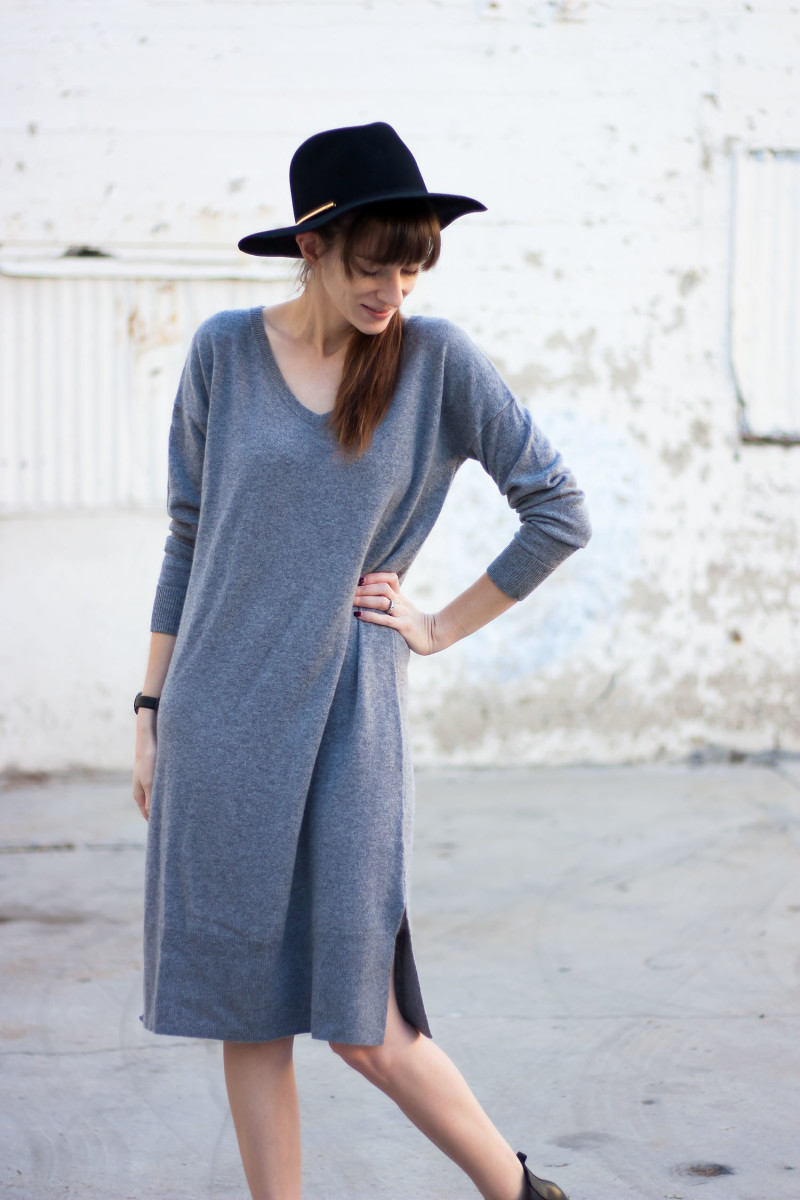 Jeans and a Teacup wearing a Grana Cashmere dress